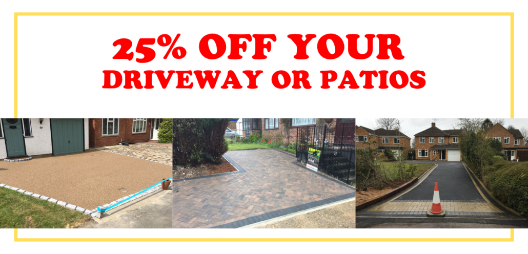 25% off your driveway Leicester