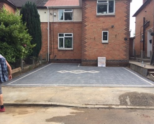 block paving driveway Braunston Leicester
