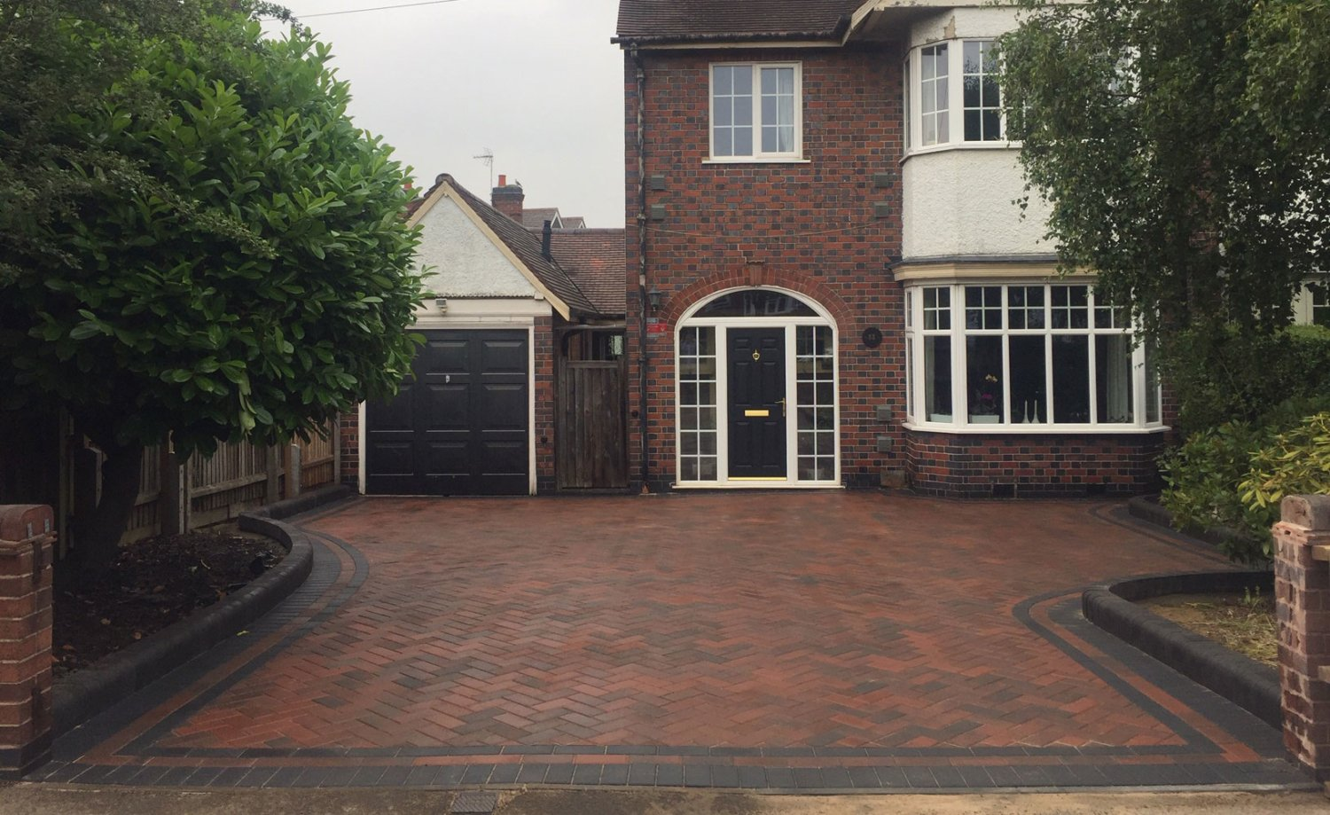 red block paving Coalville