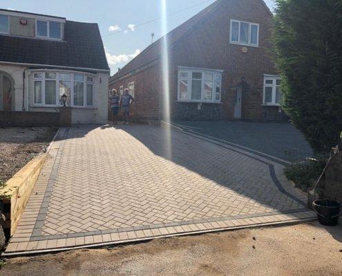 bklock paving in Markfield Road