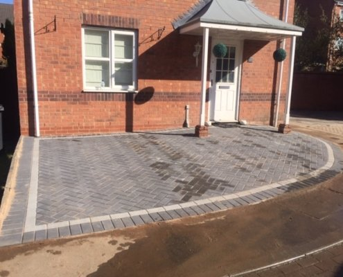 block paving drive in Coalville